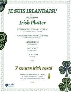 irish platter special st patricks 2017