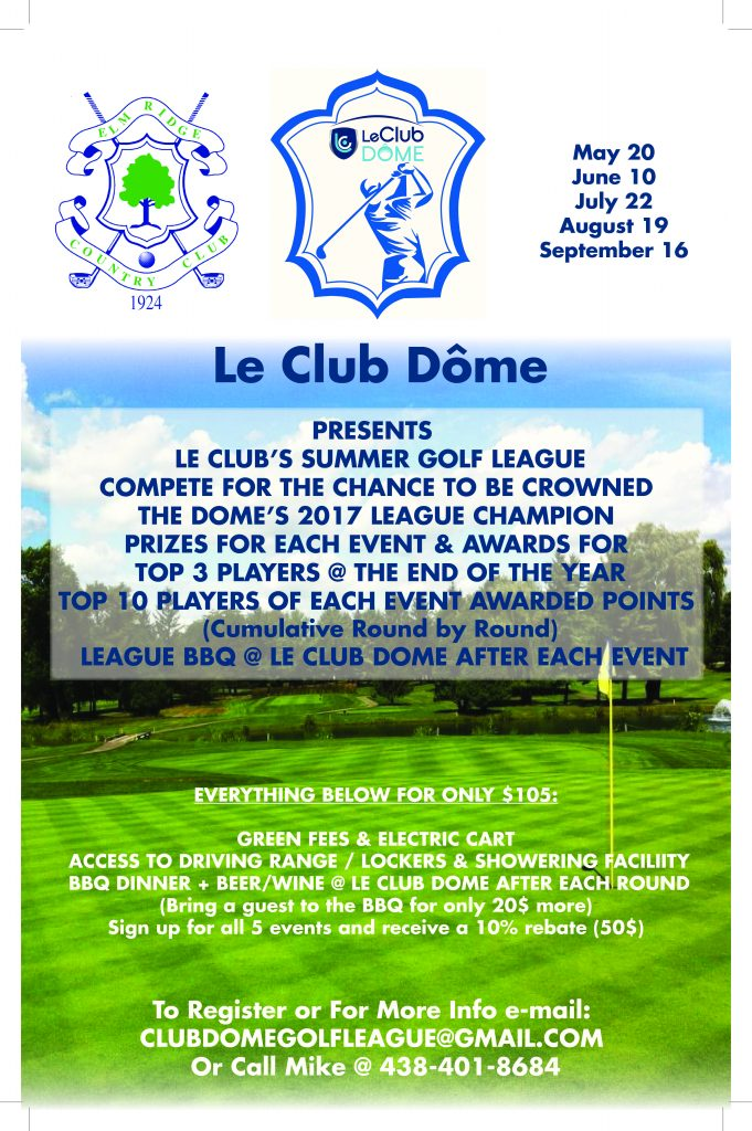 Le Club Dome 2017 golf tournament flyer